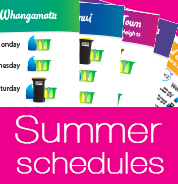 TCDC Kerbside rubbish and recycling collection schedule for summer 2016-17