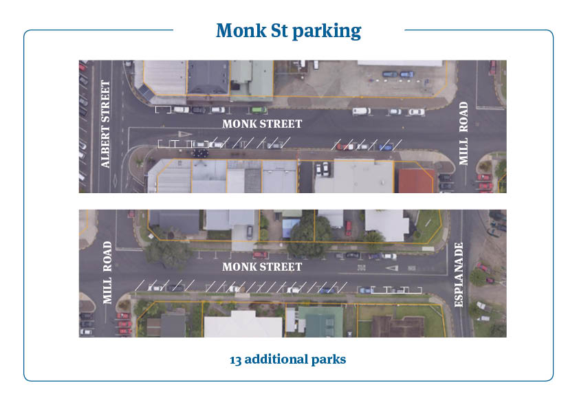 Monk St parking