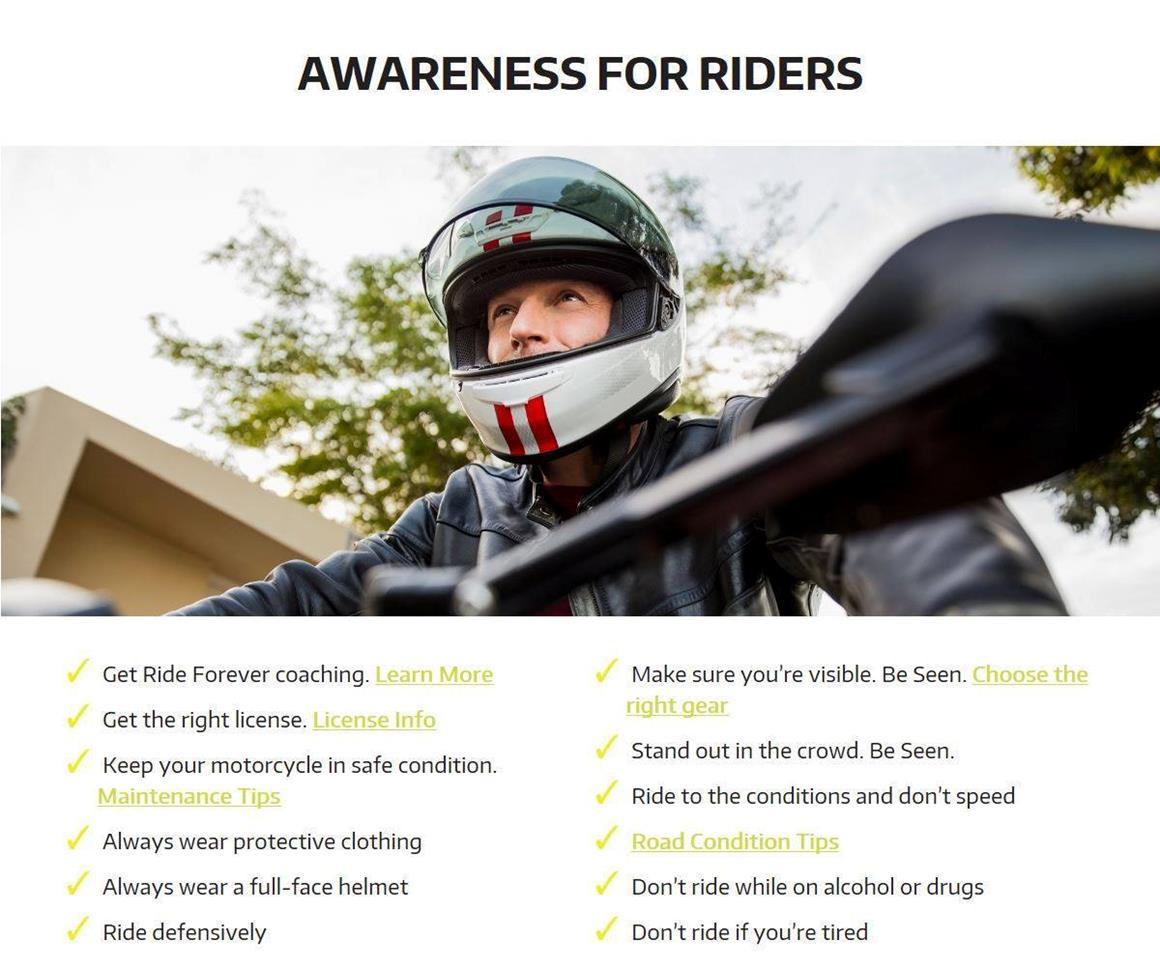 Awareness for riders