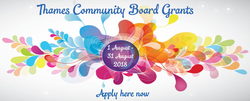 Thames Community Board grants 2018