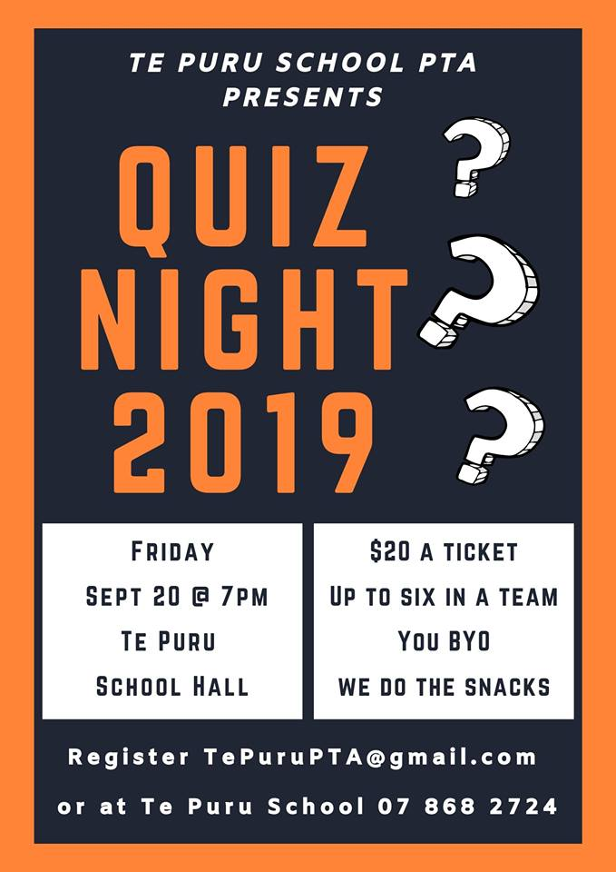 Te Puru School quiz night