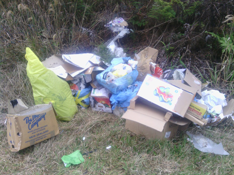 Illegal rubbish dumping on the Coromandel's scenic roads