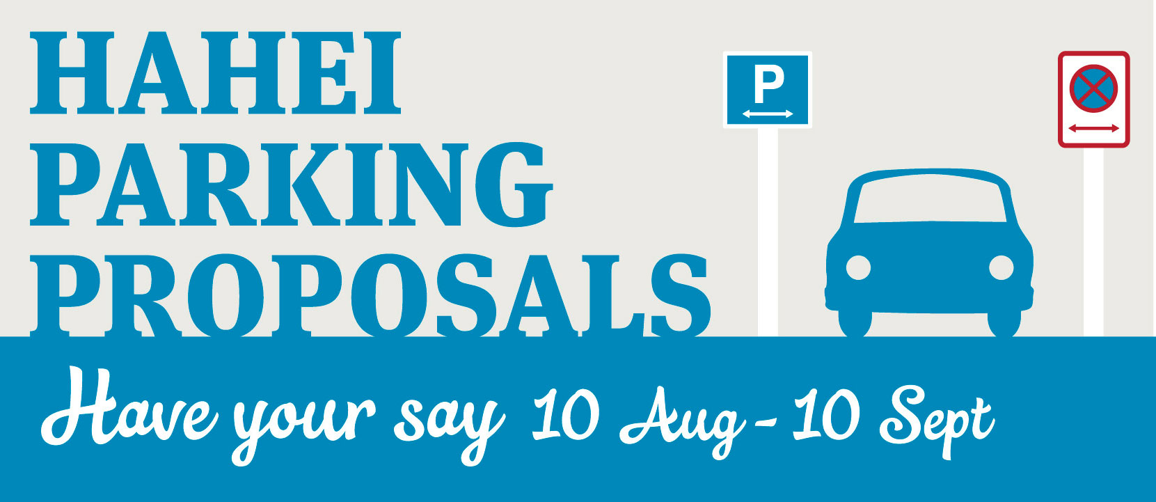 Hahei parking consultation banner