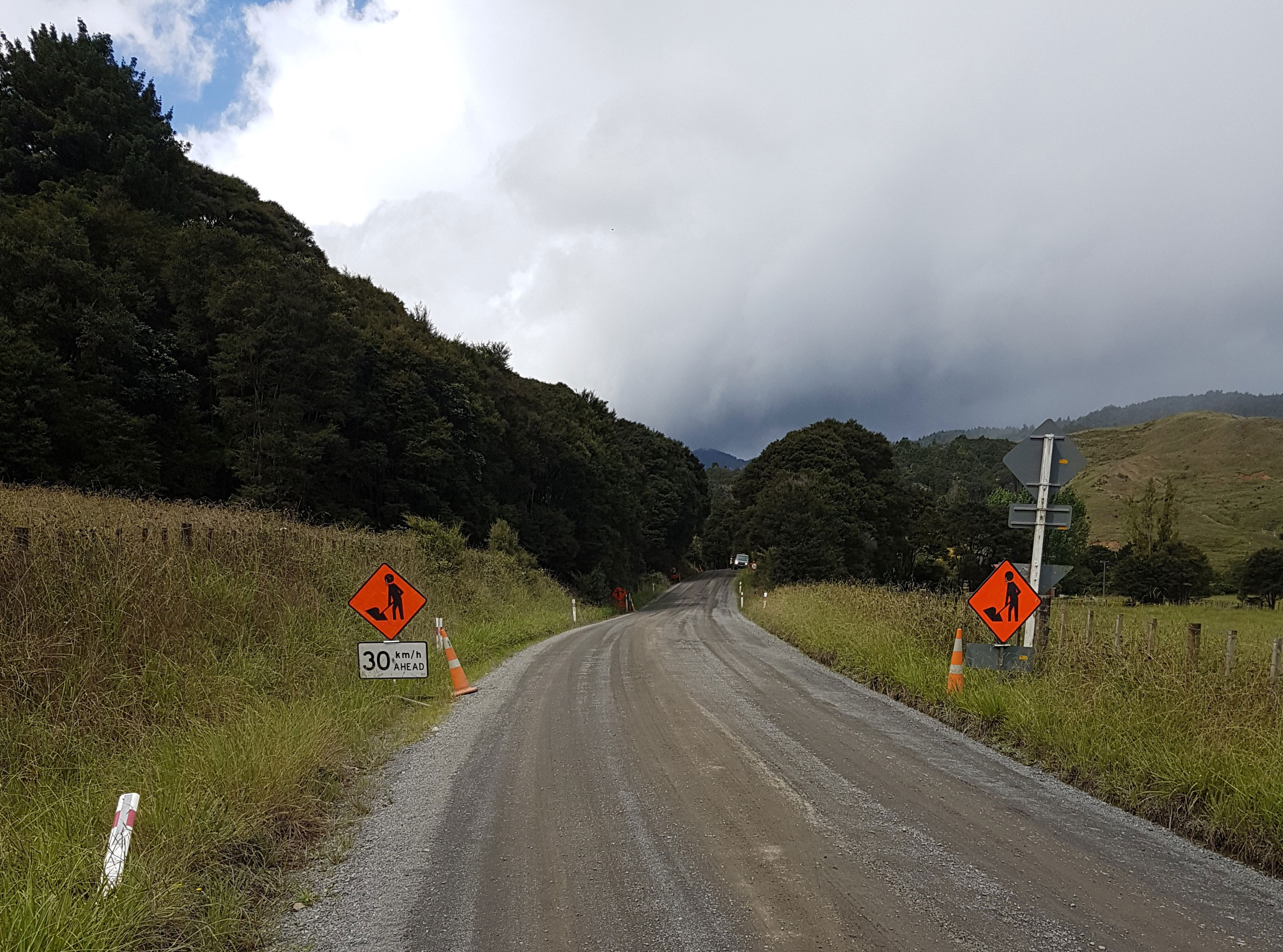 Kauaeranga Valley Road. Section to be sealed March 2018