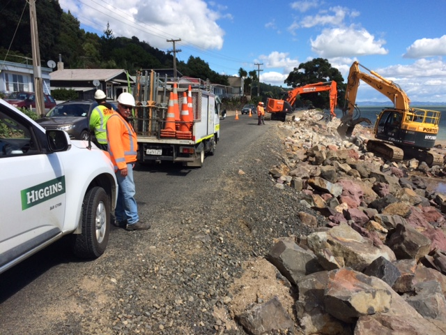 Photo: NZTA say SH25 repairs are progressing well.