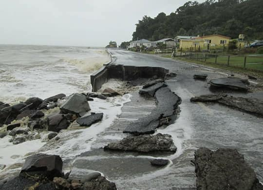 Damage to Thames Coast Rd, SH25 Nathan Howes