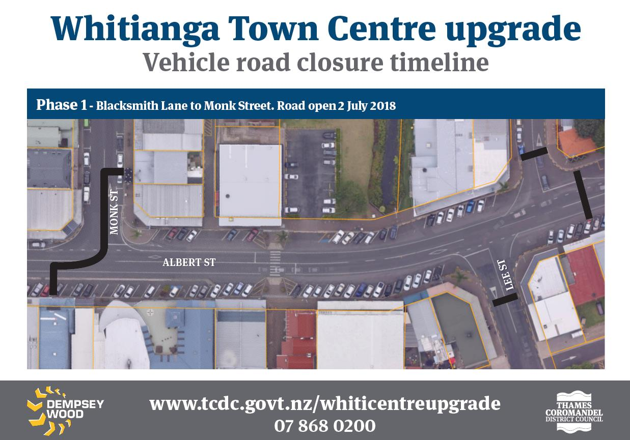 Phase 1 Whitianga Town Centre upgrade