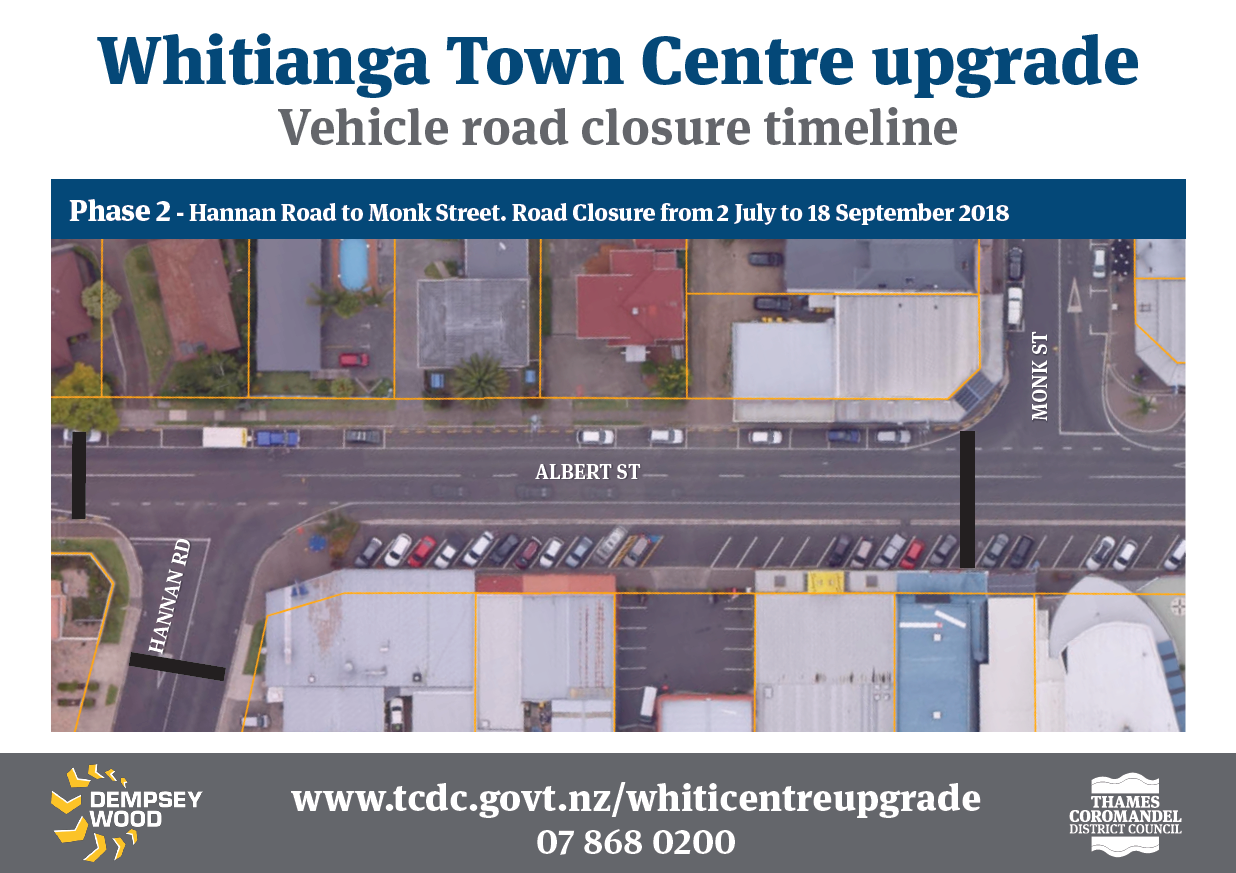 Phase 2 Whitianga Town Centre upgrade
