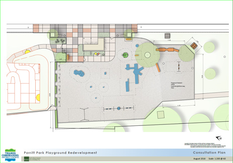 Porritt Park playground upgrade concept plan