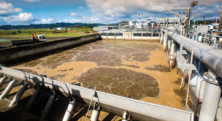 Whitianga wastewater plant reaction pool