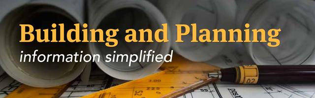 Building and Planning information simplified email newsletter banner